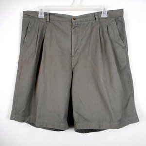 Claybrooke Shorts Mens 40 Green Pleated Front